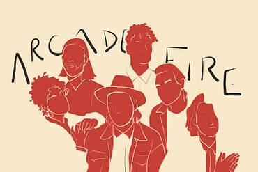 Illustration of the Arcade Fire by Courtney Nicli